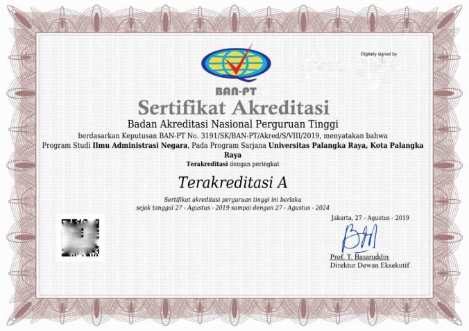 Akreditasi A IAN Fisip UPR